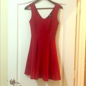 Perfect Red Skater Style Dress by LuLu's - Med